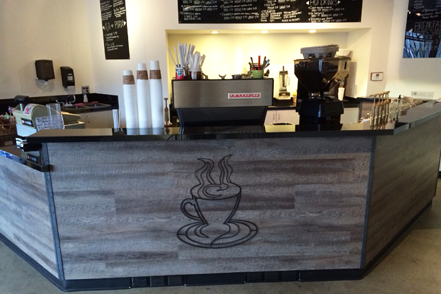 Coffee house counter